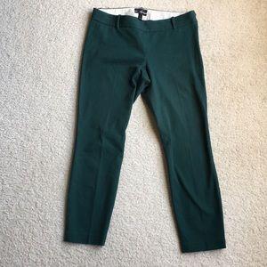 J. Crew green Minnie cropped pants